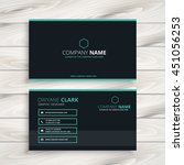 dark clean business card | Shutterstock .eps vector #451056253