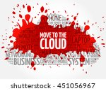 move to the cloud word cloud... | Shutterstock .eps vector #451056967