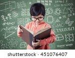 portrait of a cute little girl... | Shutterstock . vector #451076407