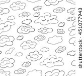 coloring  book.seamless... | Shutterstock .eps vector #451077943