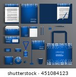 blue corporate identity... | Shutterstock .eps vector #451084123