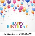 happy birthday greetings with... | Shutterstock . vector #451087657