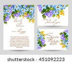 romantic invitation. wedding ... | Shutterstock . vector #451092223