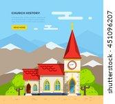 beautiful historic church... | Shutterstock .eps vector #451096207