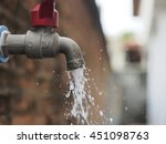 Waste Water From Water Tap.