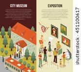 fine art museum gallery... | Shutterstock .eps vector #451100617