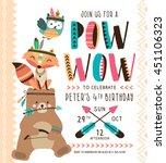 kids birthday party invitation... | Shutterstock .eps vector #451106323