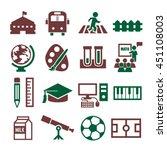 school  college icon set   Shutterstock .eps vector #451108003