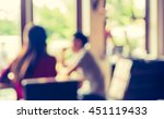 blur image of restaurant or... | Shutterstock . vector #451119433