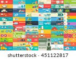 big collection of banners in... | Shutterstock .eps vector #451122817
