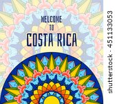 welcome to costa rica. boho... | Shutterstock .eps vector #451133053