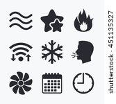 hvac icons. heating ... | Shutterstock .eps vector #451135327