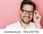 Smiling Guy In Glasses Against...