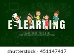 e learning kids education... | Shutterstock .eps vector #451147417
