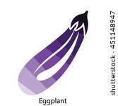 eggplant  icon. flat color...