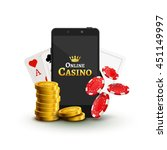 online mobile casino background.... | Shutterstock .eps vector #451149997