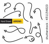 doodles arrows pack | Shutterstock .eps vector #451154023