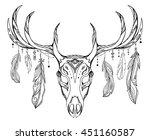 contour illustration of a deer...   Shutterstock .eps vector #451160587