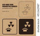 keep away from radioactive... | Shutterstock .eps vector #451162987