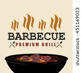 bbq premium grill banner with... | Shutterstock .eps vector #451169023