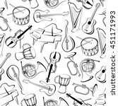 Musical Instruments Background...