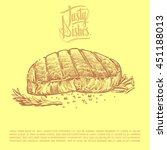 grill  beefsteak  meat  steak ... | Shutterstock .eps vector #451188013