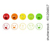feedback emoticons vector icons ... | Shutterstock .eps vector #451206817