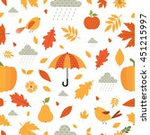 Autumn. Fall. Cute Vector...