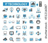 it technology icons | Shutterstock .eps vector #451216087