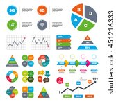 data pie chart and graphs.... | Shutterstock .eps vector #451216333