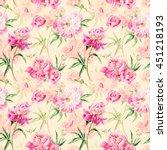 summertime garden flowers... | Shutterstock . vector #451218193