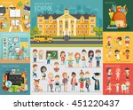 school theme set. back to... | Shutterstock .eps vector #451220437