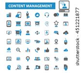 content management icons | Shutterstock .eps vector #451221877