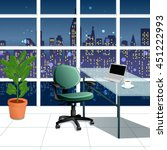 in the work office at night...   Shutterstock .eps vector #451222993