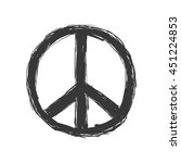love and peace concept... | Shutterstock .eps vector #451224853