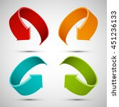 four curved arrow. 4 direction... | Shutterstock .eps vector #451236133