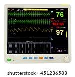 monitoring of cardiac function...   Shutterstock . vector #451236583