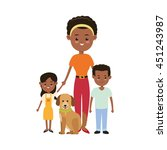 family cartoon concept... | Shutterstock .eps vector #451243987