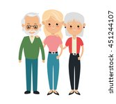 family cartoon concept... | Shutterstock .eps vector #451244107