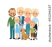 family cartoon concept... | Shutterstock .eps vector #451244137