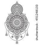 flower mandala. vintage... | Shutterstock .eps vector #451248133