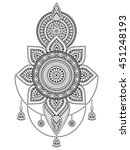 mandala  vector mandala  floral ... | Shutterstock .eps vector #451248193