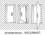 hand draw sketch of doors  | Shutterstock .eps vector #451248457