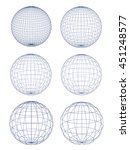 vector sphere grid shape on... | Shutterstock .eps vector #451248577