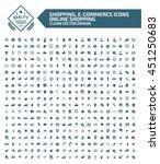 big icon shopping e commerce... | Shutterstock .eps vector #451250683