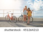 outdoor shot of two young... | Shutterstock . vector #451264213