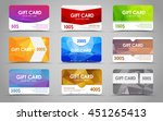 set polygonal gift cards of...