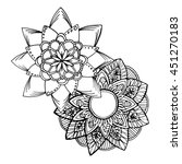 hand drawn flower mandala for... | Shutterstock .eps vector #451270183