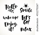 vector set of lettering phrase. ... | Shutterstock .eps vector #451270267