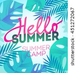 hello summer holiday and summer ... | Shutterstock .eps vector #451272067